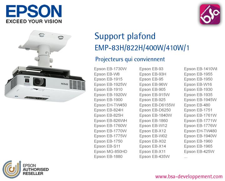 Videoprojecteurs epson data show algerie crans de - Support plafond videoprojecteur epson ...
